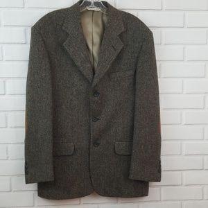 Stafford Lambs Wool Blend 3 Button Tweed Blazer